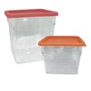Update International 4-Piece Polycarbonate Storage Square Container Set