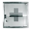"Update International 12"" x 12"" Stainless Steel First Aid Cabinet"