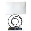 """Finesse Lighting 27.5"""" H Table Lamp with Rectangular Shade"""