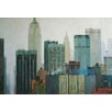 Finesse Décor 'City Lights' by Xavier Carbonell Painting Print on Canvas
