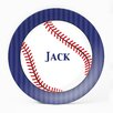 "Milo Gift Shop Baseball 10"" Melamine Personalized Plate"