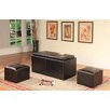Roundhill Furniture 3 Piece Coffee Table Set