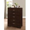 Roundhill Furniture Montana 5 Drawer Chest