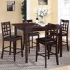 Roundhill Furniture Poka 5 Piece Counter Height Dining Set