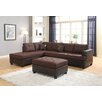 Roundhill Furniture Ellus Sectional with Ottoman