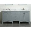 "Eviva New York 72"" Double Bathroom Vanity Set"