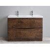 "Eviva Smile® 48"" Double Modern Bathroom Vanity Set"