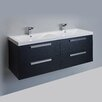 "Eviva Largo® 57"" Double Modern Bathroom Vanity Set"