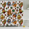 Ambesonne Owl Friends Print Shower Curtain