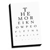 Picture it on Canvas Eye Charts More I know People Inspired Textual Art on Wrapped Canvas