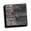 Picture it on Canvas Word Art Read in Between the Lines Quote Textual Art on Wrapped Canvas