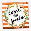 Picture it on Canvas Wreath Quotes 'Never Fails' Textual Art on Wrapped Canvas