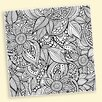 Picture it on Canvas 'Flower Pattern Coloring' Graphic Art on Wrapped Canvas