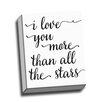 Picture it on Canvas I Love You More by Rosa Vila Textual Art on Wrapped Canvas