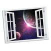 Picture it on Canvas Space Encounter Paradise Window Art Wall Decal