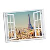 Picture it on Canvas Eiffel Tower Paradise Window Art Wall Decal