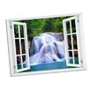 Picture it on Canvas Waterfall Paradise Window Art Wall Decal