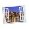 Picture it on Canvas Boston Night Paradise Window Art Wall Decal