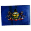 Picture it on Canvas 'Pennsylvania National Patriotic Flag' Painting Print