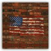 Picture it on Canvas 'Patriotic US Flag' Graphic Art on Wrapped Canvas