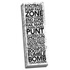 Picture it on Canvas 'Football Game Time Words' Textual Art on Canvas