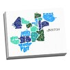 Picture it on Canvas 'Boston Word Map' Textual Art on Canvas
