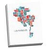 Picture it on Canvas 'Los Angeles Word Map' Textual Art on Canvas