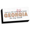 Picture it on Canvas 'Georgia Slogan Quotes' Textual Art on Canvas