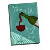 Picture it on Canvas 'Wine a Bit' Graphic Art Wrapped Canvas