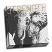 Picture it on Canvas 'Strength Elephant' Graphic Art on Wrapped Canvas
