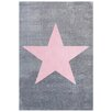 Livone GmbH Kinderteppich Star in Silbergrau / Rosa