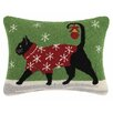 Suzanne Nicoll Studio Holiday Pets Hook Cotton Throw Pillow