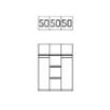 Express Möbel 3-Piece Height-Adjustable Cupboard Accessory