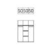 Express Möbel 3tlg. Höhenversteller für Kleiderschränke Zubehör