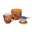 Lang 4 Piece Pretty Poppies Tea Infuser Mug Set