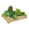 Cedar Raised Garden - Size: 10.5 inch High x 48 inch Wide x 48 inch Deep - Greenes Fence Planters