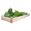 Cedar Raised Garden - Size: 7 inch High x 96 inch Wide x 24 inch Deep - Greenes Fence Planters