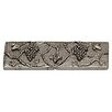 """Premier Hardware Designs Napa Valley Grape 2"""" x 6"""" Pewter Hand-Painted Tile in Natural Pewter"""