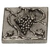 """Premier Hardware Designs Napa Valley Grape 2"""" x 2"""" Pewter Hand-Painted Tile in Natural Pewter"""