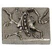 """Premier Hardware Designs Garden Pea 2"""" x 2"""" Pewter Hand-Painted Tile in Natural Pewter"""