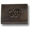 """Premier Hardware Designs Celtic 2"""" x 2"""" Pewter Hand-Painted Tile in Oil Rubbed Bronze"""