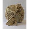 Fino Lino Crinkle Silk Bow Knot Throw Pillow