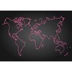 Lés papiers de Ninon Pink Map Graphic Art