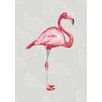 Lés papiers de Ninon Dotted Flamingo Graphic Art