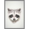 Lés papiers de Ninon Dotted Raccoon Graphic Art