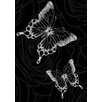 Lés papiers de Ninon Dark Butterflies Graphic Art
