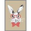 Lés papiers de Ninon Bowtie Rabbit Graphic Art