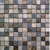 """Intrend Tile Cloudy Sand 12"""" x 12"""" Stone / Glass Square Mosaic Tile in 4 Color Blend"""