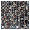 "Intrend Tile 0.63"" x 0.63""  Stone / Glass Mosaic Tile in 4 Color Blend"