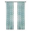 Bungalow Rose Greve Strand Diamond Single Curtain Panel